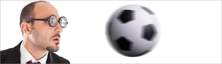 heading soccer ball - keep eye on balll